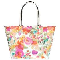 275 Nwt Kate Spade Jules Grant Street Giverny Floralgrainy Vinyl Tote Purse  Photo