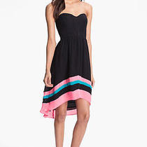 275 Parker  Silk Fit & Flare Dress in Black (L) Photo