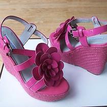 275 Vera Wang Lavender Penny Shoes Wedge Platform Espadrille Patent Sz 7.5 New Photo
