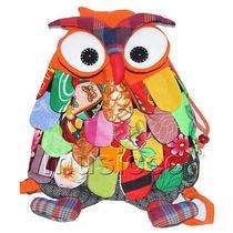 27x36cm Orange Chinese Handmade Flax Owl Bag Purse T620a54 Photo
