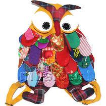 27x36cm Yellow Chinese Handmade Flax Owl Bag Purse T618a54 Photo