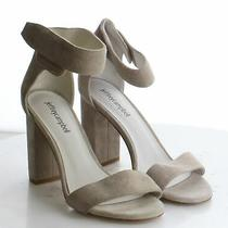 28-28 Women's Size 7 Jeffrey Campbell Gray Suede Ankle Strap Heeled Sandal Photo