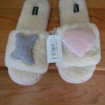 28 Nine West Slippers Creme Brulee Faux Fur Slides Beige Pink Xl 11 12 42 43 Photo