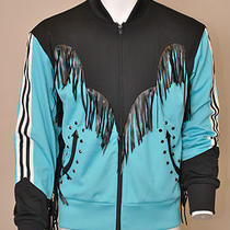 280 Adidas Originals Obyo Jeremy Scott Men's Fringed Western Track Top   M Photo