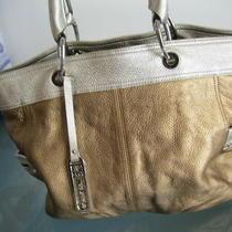 284 B. Makowsky Designer Women Shoulder Bag Hobo Tote Purse Pebble Leather Cold Photo
