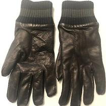 285 Bally Gloves Leather and Cashmere Sz 9.5 Photo