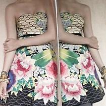 288 Moulinette Souers Anthropologie 'Painted Lotus' Convertible Silk Dress 12 Photo