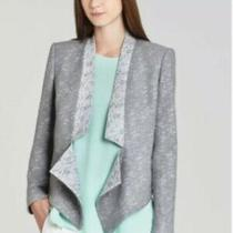 295. Bcbg Maxazria Candice Gray Tweed Blazer Jacket Szxs New Without Tags Photo