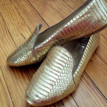 295 Brian Atwood Snakeskin Smoking Slipper 7.5 Shopbop Anthropologie Madewell  Photo
