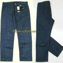 295 Escada Sport Black Label Size 36 6 X 26.5 Julie Blue Denim Jeans New Nwt Photo