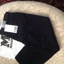 295 M Missoni Capri Cropped Pants Corduroy Navy Blue 38 Us 2 Made in Italy Nwt Photo