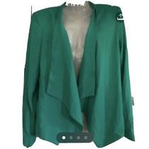 298 Bcbg Maxazria M  Abree Igreen Tweed Open Blazer Jacket Photo