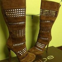 298 Bebe Jimmy Brown Suede Platform Boot Sz 7.5. Gorgeous. New Other Photo