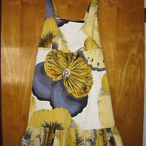 298 Nwt Anthropologie Leifsdottir Painted Pansy Dress Us 8  Photo