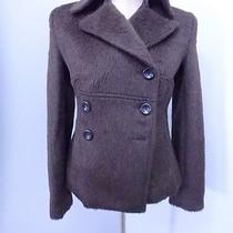 29814 Brown 70% Alpaca Wool Women's Coat Jacket Xs Guess Photo