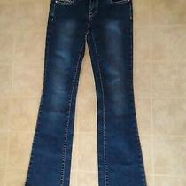 2b Bebe Blue Embellished Jeans Size 25 Womens Photo