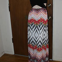 2b Bebe Graphic Maxi Dress Size Xl Photo