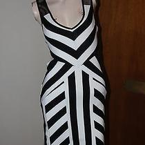 2b Bebe Lindsey Striped Dress Size M Photo