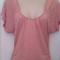 2b Bebe Women Top Blouse Ruched Preppy Lounge Trendy Small Photo