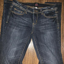 2b Bebe Womens Jeans Size 28 Dark Blue Denim Skinny Photo