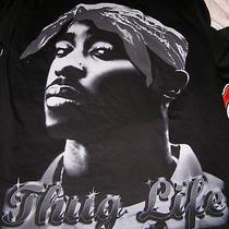 2pac Tupac Griffin Black Thug Life Hip Hop Rap 100% Cotton T-Shirt Size 2xl Photo