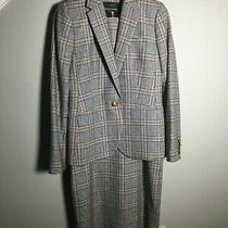 2pc Nwot J Crew Women Campbell Mini Houndstooth Plaid Blazer  Dress Set Size 4 Photo