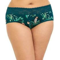 2x 18/20 New Torrid Teal Lace Trim Tropical Leopard Jungle Cheeky Panty Panties Photo