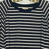 2x/3x Nordstrom Madewell Miles Striped Blue White Cotton Sweatshirt Top Pullover Photo