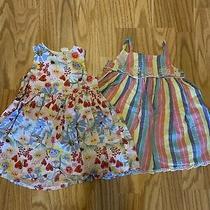 2x Baby Gap h&m Toddler Girls Size 18-24 Months Floral Sleeveless Spring Dress Photo