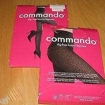 2x Pairs Commando Tights Small Silver Disco Lights  Purple Cougar Legs Print Photo