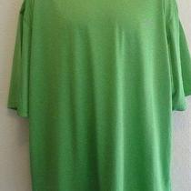 2xl Men's Reebok Tee Shirt Green With Logo Xxl Photo