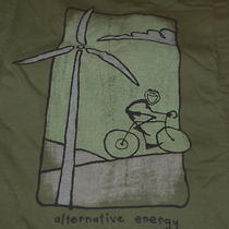 2xl Nwt 36 Men's Life Is Good Good Karma Ls Tee Vista Bike Alternative Energy Photo