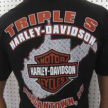 2xl Nwt  Harley Davidson Milwaukee Usa Bike Tee Shirt Morgantown Wv Photo