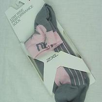 2xu Women's Low Rise Performance Sock Blush Silver Xs/s Nwt Photo
