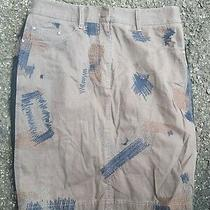 3.1 Philip Lim Chocolate Brown Jean Embroidered Skirt Size 4 Photo
