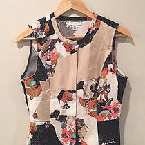 3.1 Philip Lim for Target Limited Edition Floral Peplum Zip Front Top Size M Photo