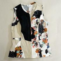 3.1 Philip Lim for Target Peplum Colorblock Tank Floral Modernistic Print Sz M Photo
