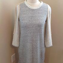 3.1 Philip Lim Gray 3/4 Sleeve Sweater Dress Size Xs Scoop Neck Pockets Women's  Photo