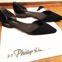 3.1 Philip Lim Women Flat Shoes Size 36 - Black Suede/patent Leather Photo