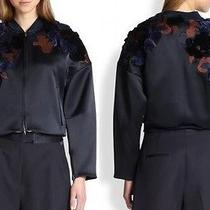 3.1 Phillip Lim 2014 New Embroidered Cropped Bomber Jacket Size - 4 Photo