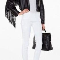 3.1 Phillip Lim Black Lambskin Leather Fringed Bomber Jacket 2159 Photo