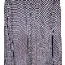 3.1 Phillip Lim Blue Grid Mandarin Collar Button Up Top Blouse 4 Photo