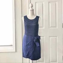3.1 Phillip Lim Blue Linen Scallop Faux Tie Wrap Skirt Lattice Detail Dress 4 Photo