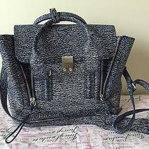 3.1 Phillip Lim Blue Textured Leather Medium Pashli Satchel Photo