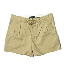 3.1 Phillip Lim Cotton Chino 2 Tuck Belt Shorts 32 Beige Shorts Bottoms Photo