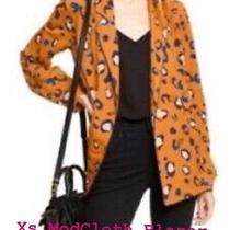 3.1 Phillip Lim for Target Orange W/blue Leopard Print Blazer Bnwt Size Xs Photo