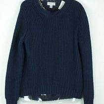 3.1 Phillip Lim Navy Cable Knit Sweater - Size Extra Small Photo