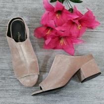 3.1 Phillip Lim Size 36 Women's Cube Mules Block Heel in Blush Pink Velvet Photo