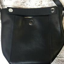 3.1 Phillip Lim Small Dolly Tote Bag Bucket Purse Black Leather Silver Hardware Photo