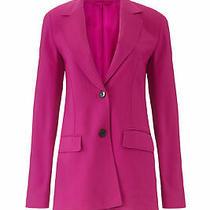3.1 Phillip Lim Women's Blazer Pink Size 0 Two Button Notch Collar 695- 871 Photo